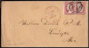 USA 1858 COVER WITH, 2 VARIANTS OF GEORGE WASHINTON 3C STAMPS, DETAILS INSIDE