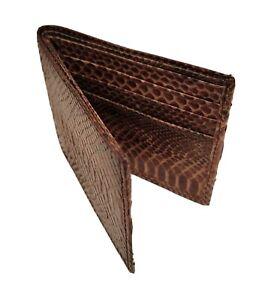 Authentic SNAKE SKIN Wallet bi-Fold Men Billfold Original Slim CLASSIC