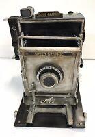 RARE Speed Graphic Camera Decorative Metal Planter/Photo Holder/Bank NEW