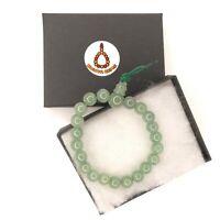 Genuine Green Aventurine Gemstone Power Bracelet elastic cord Chakra Mala Beads