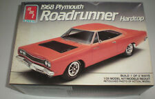 AMT 1968 Plymouth Roadrunner Hardtop Build 1 of 2 Ways Plastic Model Car 6515