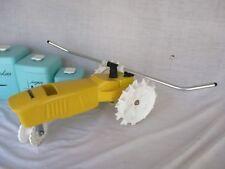 Lawn Sprinkler Garden Nelson Cast Iron Yellow Tractor NICE *
