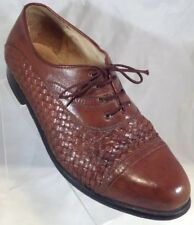 Botany 500 Brown Cap Toe 897121 Waffle Leather Mens Oxfords Sz 10 M