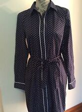 Tommy Hilfiger Navy Polka Dot Shirt dress BNWT size M