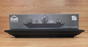 """ABC'S of Decor Always Being Creative 24"""" (inch) Black Floating Effect Wall Shelf"""