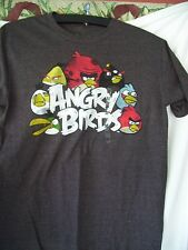 Angry Birds Size MDM CHARCOAL HEATHER Tee Shirt ADULT UNISEX EUC