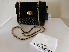 New Coach Parker 18 Quilted Small Velvet Satchel Shoulder Bag, Handbag Purse!