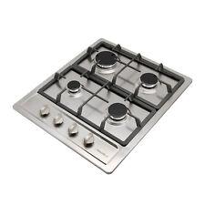 23.6in Stainless Steel Gas Hob Built-In 4 Burner NG/LPG Gas household Cooktops