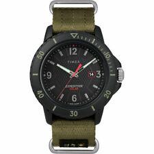 Timex TW4B14500,  Gallatin, Expedition Green Nylon Watch, Solar Battery, Date