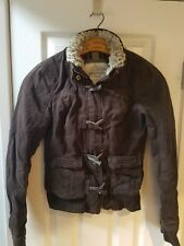 BEAUTIFUL WOMEN'S ABERCROMBIE & FITCH NEW YORK TOGGLE BROWN PARKA JACKET'S sz SM