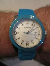 - New - Retails: $98.00 - Tub Sc-6 Express Watch - Day - Blue Rubber Band