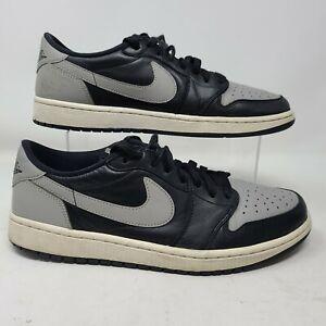2015 Nike Air Jordan 1 Retro Low OG Shadow Grey Black 705329-003 SIZE 10.5