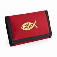 Wallet Ichthys Fish Christian symbol Fish Christian Gift Ichthus Birthday Gift
