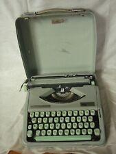 Hermes Baby typewriter portable Hebrew vintage with case Switzerland green