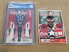 Captain America & The Mighty Avengers #1 CGC 9.4 White Pages (Falcon!!) + #2