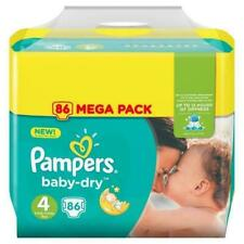 Pampers Baby-Dry Couches Jetables - Pack de 86, Taille 4