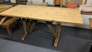 "Plank Top Wood Bespoke Table Measures 183 cm X 83 cm (72"" x 32½"") New"