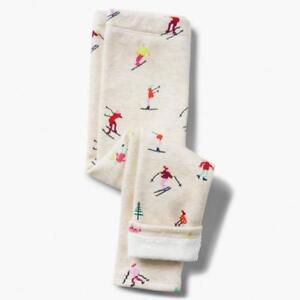 NWT Gymboree Cozy Leggings Cream Skiers Girls 4,5/6,7/8