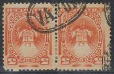 """PERU 1886 SHIP CANCEL Sc 108 PAIR WITH NEAT OVAL """"VAPOR"""" & OTHER CANCELS €125+"""