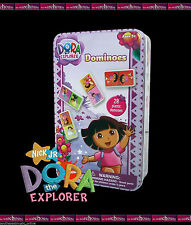 DOMINOS SET DORA THE EXPLORER 28 PIECE SET IN TIN BOYS KIDS GAME CHILDREN