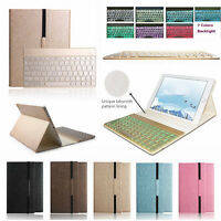 Boriyuan Backlight Bluetooth Keyboard Leather Case Smart Cover For iPad 2 3 4