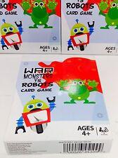 ~ Brand New Card Deck [Monsters Vs. Robots War] Poker Solitaire Kids Game