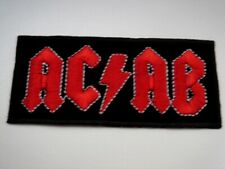 "Aufnäher Patch ""ACAB in AC/DC Optik"" für Biker Kutte Fussball-Fans Ultras *RAR*"