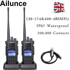 2XDMR Ailunce HD1 Dual Band Walkie Talkie IP67 3000CH TDMA Digital Two Way Radio