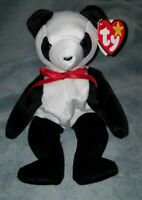 TY Beanie Baby - RETIRED Fortune The Panda Bear With Errors