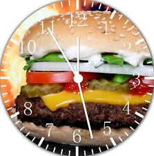 Hamburger Frameless Borderless Wall Clock Nice For Gifts or Decor E283