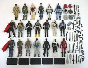 Lot of 20 G.I. Joe 25th Anniversary Figures Snake Eyes Storm Shadow++ 30th