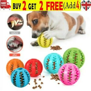 Pet Ball Dog Ball Fetch Food Teething Treat Feed Rubber Ball 3 Sizes Buy 2 Get 4