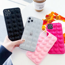 3D Love Heart Silicone Case Cover For iPhone 12 Pro 11 Pro Max XS XR 8 7 6 Plus