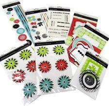 Bulk Lot #46 S.E.I. Black Orchid Scrapbook Stickers Die-Cuts Rub-Ons + 94 pcs