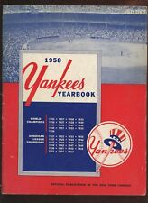 1958 New York Yankees Yearbook EX
