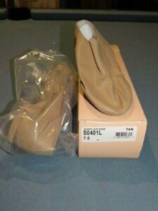 BLOCH Split Sole Super Jazz Shoe S0401L Tan Lyrical Women's Slip-On Leather 7.5