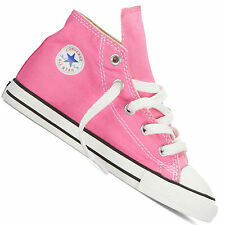 Girls Infants Converse Pink Hi Tops All Star Chuck Taylor Canvas BOOTS 7j234 UK 7 (eu 23)