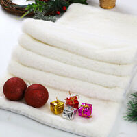 1PC Christmas Table Runner Snowy White Faux Fur Tablecloth Xmas Party Home Decor