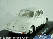 VOLKSWAGEN VW BEETLE MODEL CAR 1:43 SCALE WHITE IXO + DISPLAY CASE K