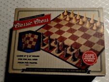 "New Meridian Point Compact Travel Classic Chess Game Collapsible Board 11"" x 11"""