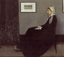 Portrait of the Artists Mother A1+ by James Abbott McNeill Whistler Canvas Print