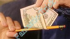 Misled Pencil Through Bill--Magic Trick,Close Up Magic