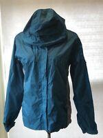 🔥Stearns Dry Wear Women's Size L Rain Jacket Black Teal Full Zip Hooded Nylon