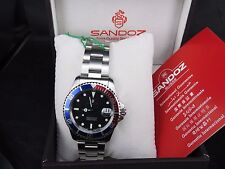 BRAND NEW SANDOZ 955112 SWISS ETA SPORTS SS STEEL DATE QUARTZ MENS WATCH W/ BOX