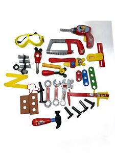 Mickey Mouse Disney Junior Handy Helper Toy Tool Lot Wrenches Hammer Drill Saw