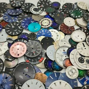 Lot of 1 kg Watch Dials Swiss Made for Jewelry Making Steampunk Art: I Ship Fast