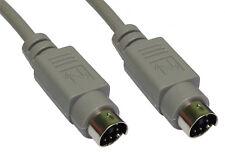 PS/2 Male / Male Data Cable 6 Pin Mini Din Shielded 2 Metre Lead 2m