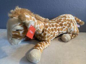 """FAO Schwarz Giraffe Plush Toys R' Us Geoffrey Large Stuffed Animal 26"""" Tall NWT!"""