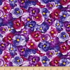 PANSY~PACKED PANSIES~ QUILT FABRIC FAT QUARTER