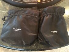 LOT Of 3 Chanel Drawstring Bucket Style Black Canvas Bag Purse Tote Lined